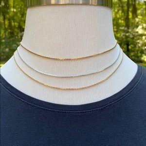 "Vintage Avon 3 Strand Gold & Silver Necklace 16"""